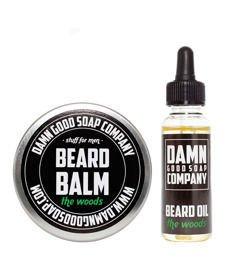 Damn Good Soap-Beard Balm & Oil The Woods Kit Zestaw brodacza