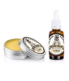 Mr Bear-Beard Balm & Oil Citrus Kit Zestaw Brodacza