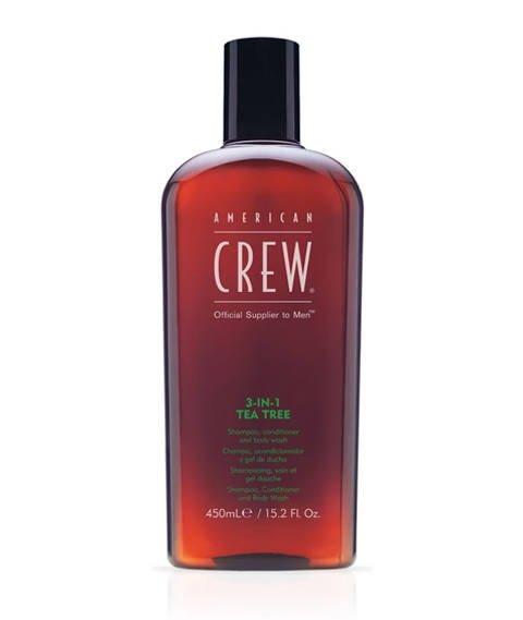 American Crew-3-in-1 Tea Tree Szampon Wielofunkcyjny 450 ml