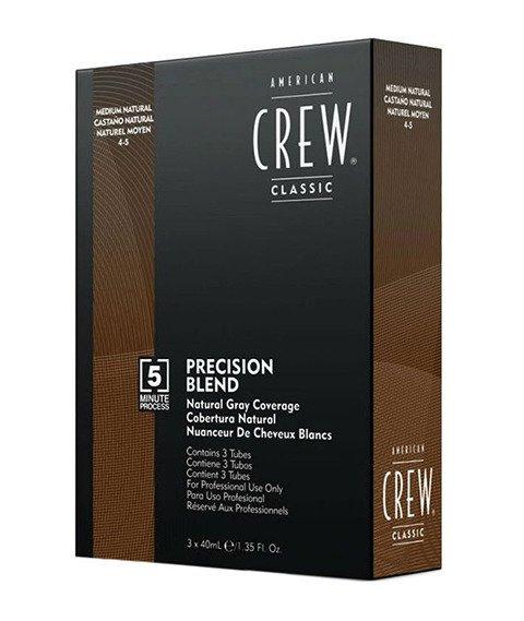 American Crew-Precision Blend Farba Odsiwiacz do Włosów 4-5 Medium Natural