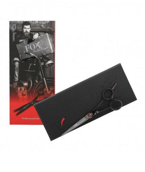 Fox-Professional Hair Scissors 6'' Black Skull Nożyczki Fryzjerskie