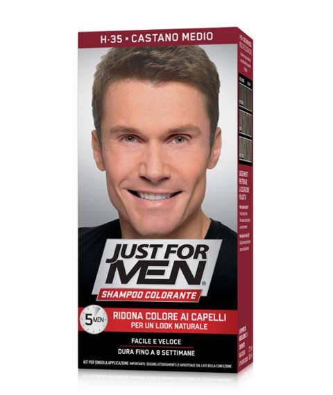 Just for Men-Szampon Odsiwiający do Włosów H-35 Medium Brown