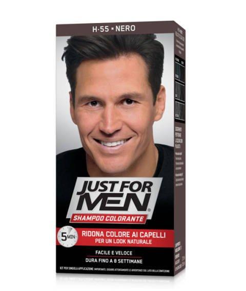 Just for Men-Szampon Odsiwiający do Włosów H-55 Black