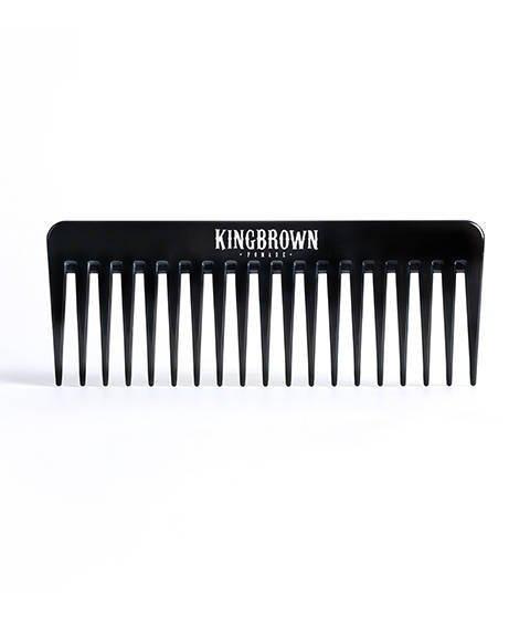 King Brown-Black Texture Comb Grzebień do Włosów