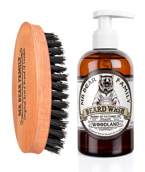 Mr Bear-Beard Brush & Shampoo Woodland Kit Zestaw Brodacza