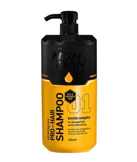 Nishman-Pro-Hair Shampoo Szampon do Włosów 1250ml