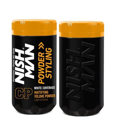 Nishman-White Coverage Powder Puder Maskujący Siwiznę Włosy Ciemne 20g