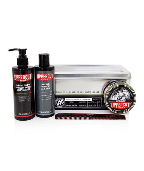 Uppercut Deluxe-Grooming Kit Matte Pomade Zestaw do Stylizacji Włosów