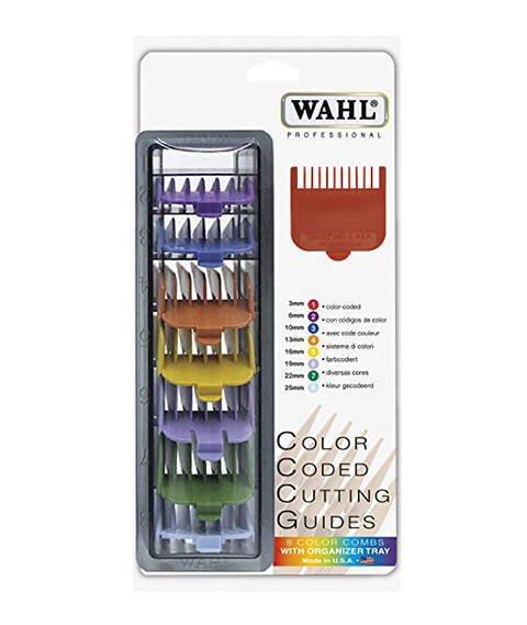 Wahl-Komplet 8 Kolorowych Nasadek do Maszynki: 3mm-25 mm
